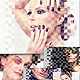 Pixel Overlay Display Photo Art - GraphicRiver Item for Sale