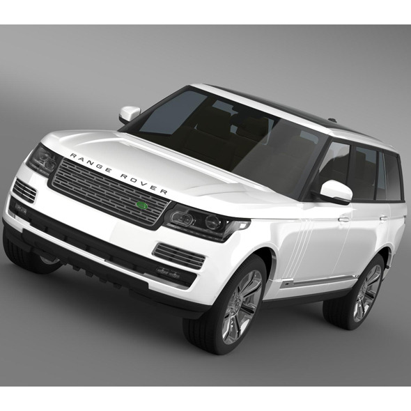 3DOcean Range Rover Autobiography Black LWB L405 7956339