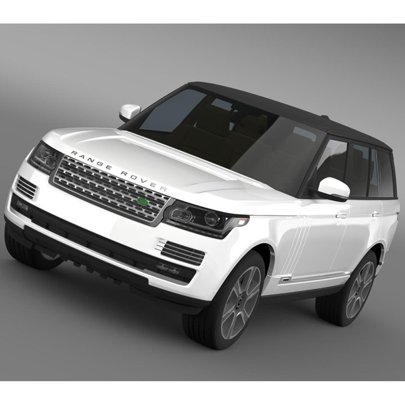 3DOcean Range Rover Autobiography Hybrid L405 7956342