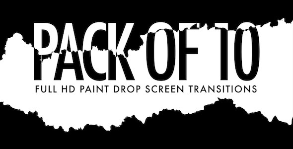 Paint Drop Screen Pack of 10