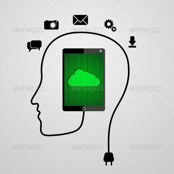 GraphicRiver Head with Tablet 7956495