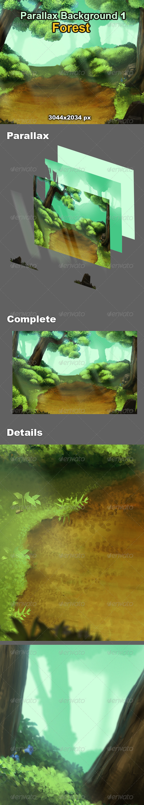 GraphicRiver Parallax Background 1 Forest 7956536