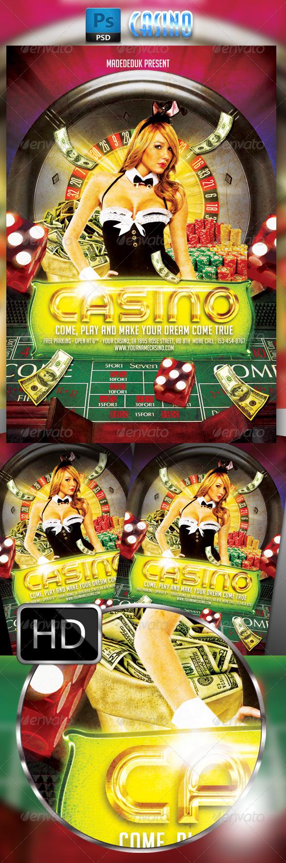 GraphicRiver Casino Flyer Template 7956698