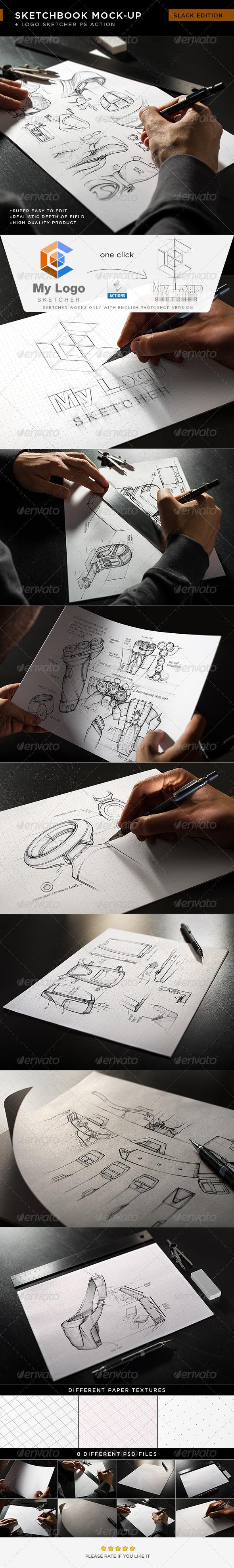 GraphicRiver Sketchbook Mock-Up 7956776