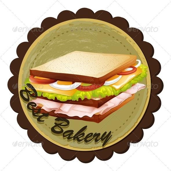 GraphicRiver Sandwich Label 7956834