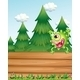 Monster Above a Wooden Signboard - GraphicRiver Item for Sale