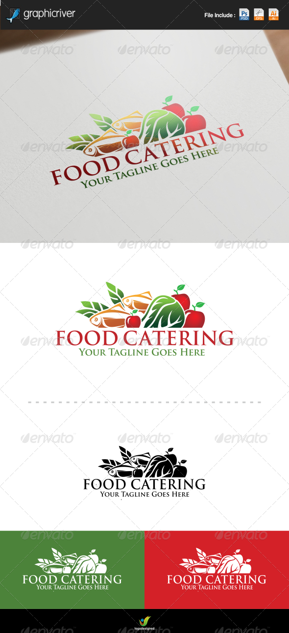 GraphicRiver Food Catering Logo 7956892