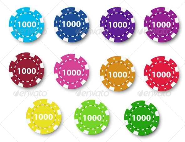 GraphicRiver Group of Poker Chips 7956966