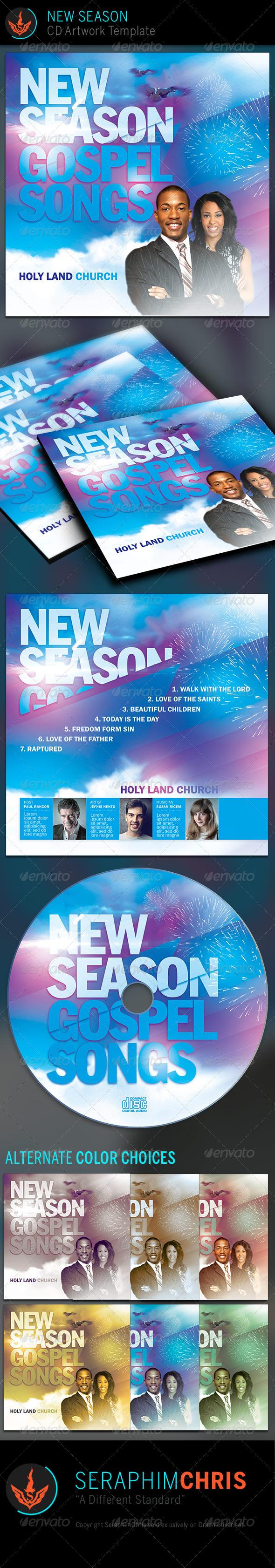 GraphicRiver New Season CD Artwork Template 7956969
