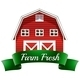 Farm Fresh Label with a Red Wooden House - GraphicRiver Item for Sale