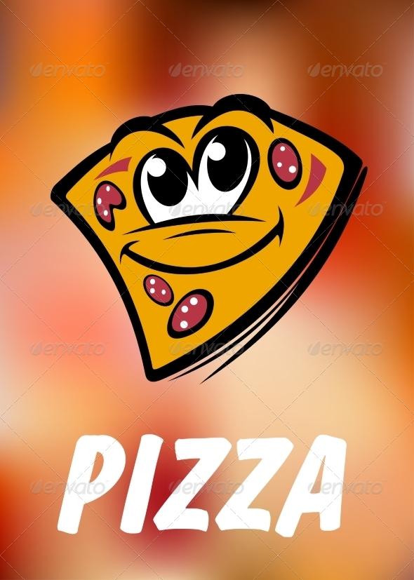 GraphicRiver Cartoon Pizza Slice 7957032