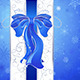 Blue Bow on a Blue Background - GraphicRiver Item for Sale