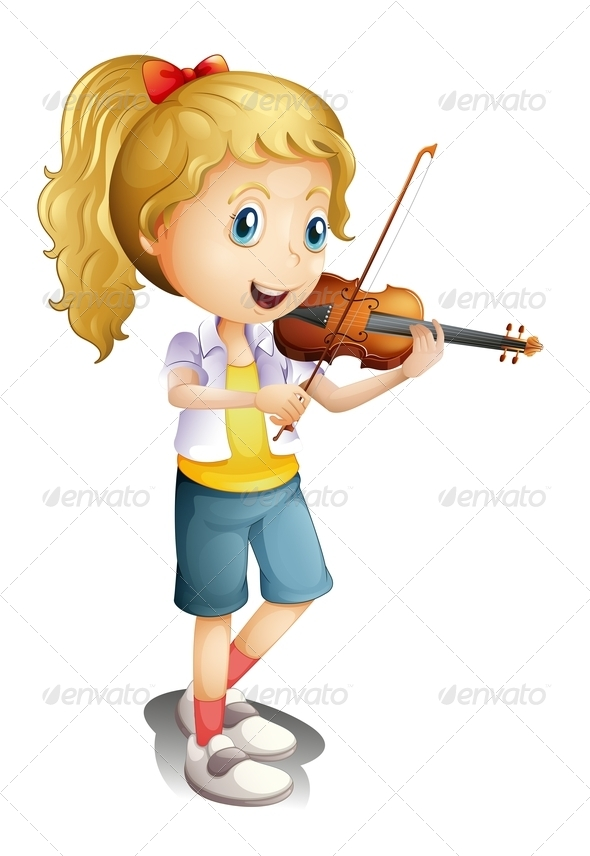 GraphicRiver Girl Playing with Her Violin 7957088