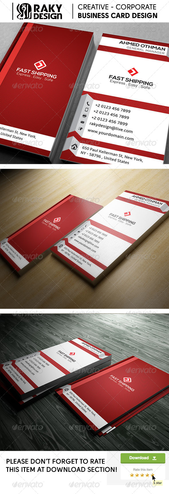 GraphicRiver Fast Shipping Creative Business Card 7957151