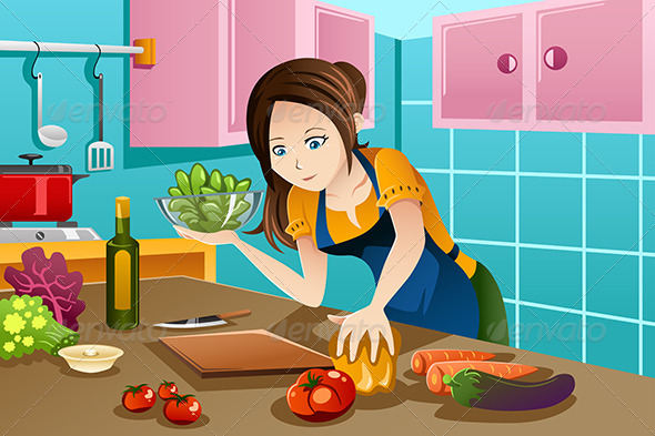 GraphicRiver Woman Cooking 7957216