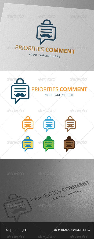 GraphicRiver Mustache Bubble Chat Logo 7957222