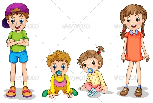 GraphicRiver Two Kids and Two Infants 7957238