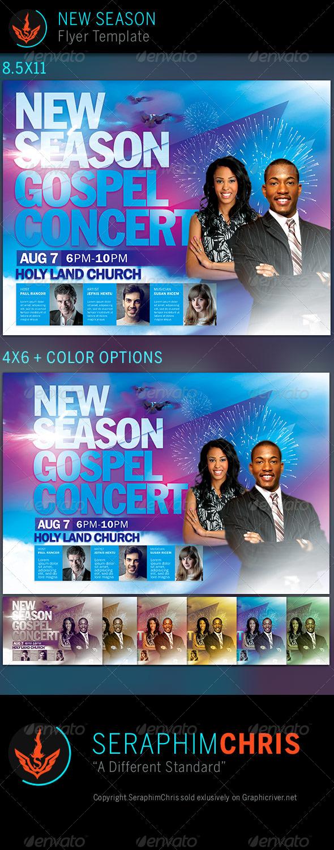 GraphicRiver New Season Church Flyer Template 7957429