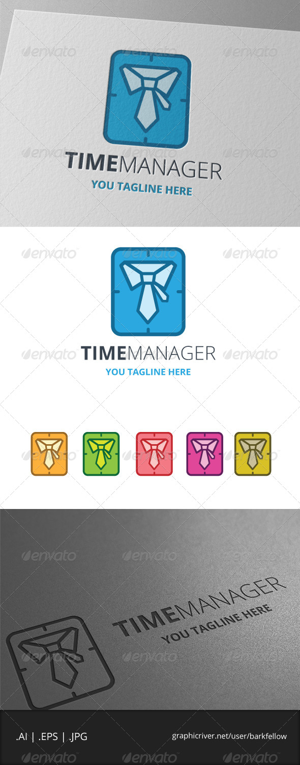 GraphicRiver Time Manager Logo 7957441