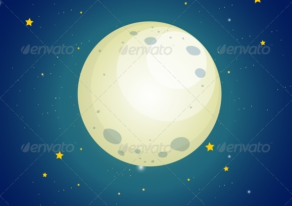 GraphicRiver Moonlit Sky 7957505
