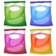 Four Packs with Empty Labels - GraphicRiver Item for Sale