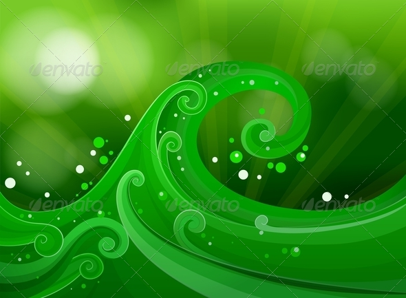 GraphicRiver Green Gradient Background 7957586