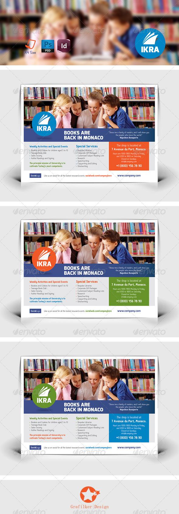 GraphicRiver School Book Flyer Templates 7957587