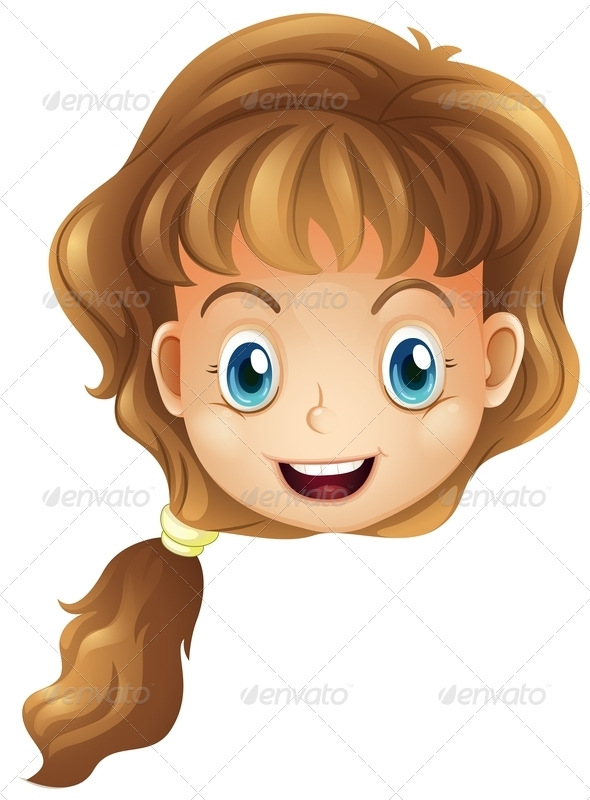 GraphicRiver Smiling Girl Head 7958098