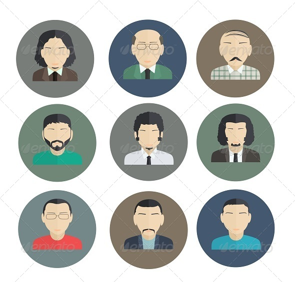 GraphicRiver Male Faces Icons 7949066