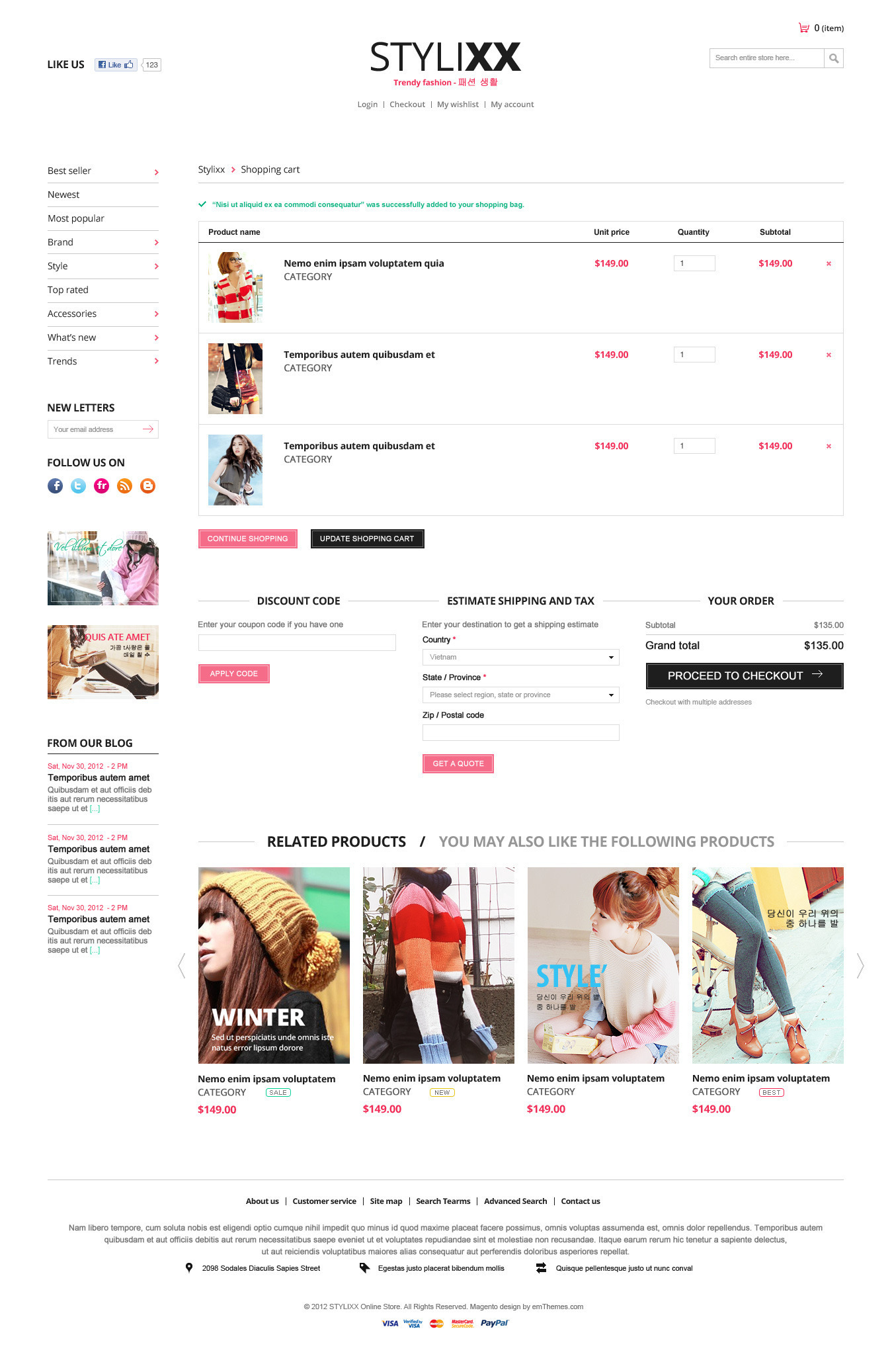 Responsive Magento Theme - Stylixx Asian Fashion