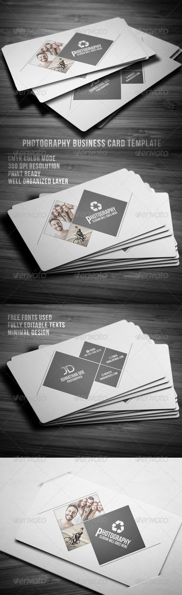 GraphicRiver Photography Business Card 7958649