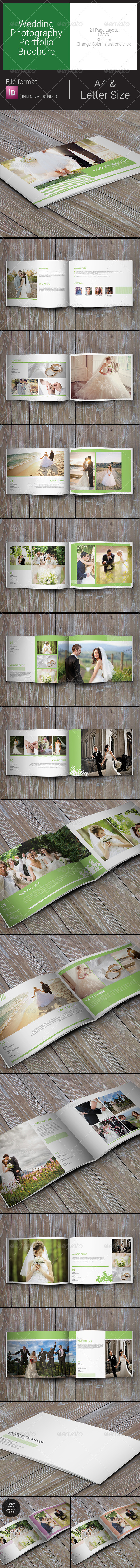 GraphicRiver Wedding Photography Portfolio Brochure 7958655