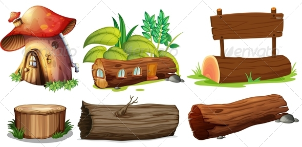 GraphicRiver Wooden Objects 7958753