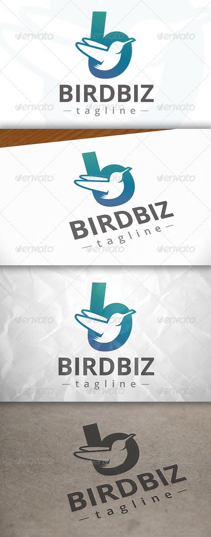 GraphicRiver Bird B Letter Logo 7958776