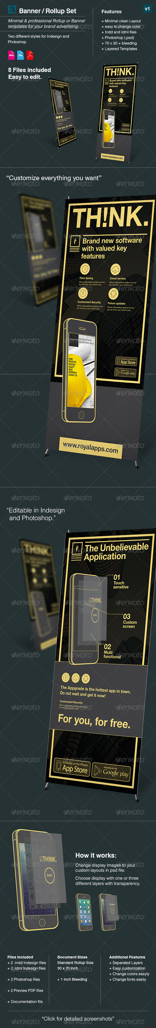 GraphicRiver Rollup Banner Advertising Pack v1 7958873
