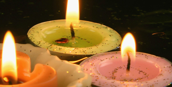 Candles and Dry Leaves on the Water 12