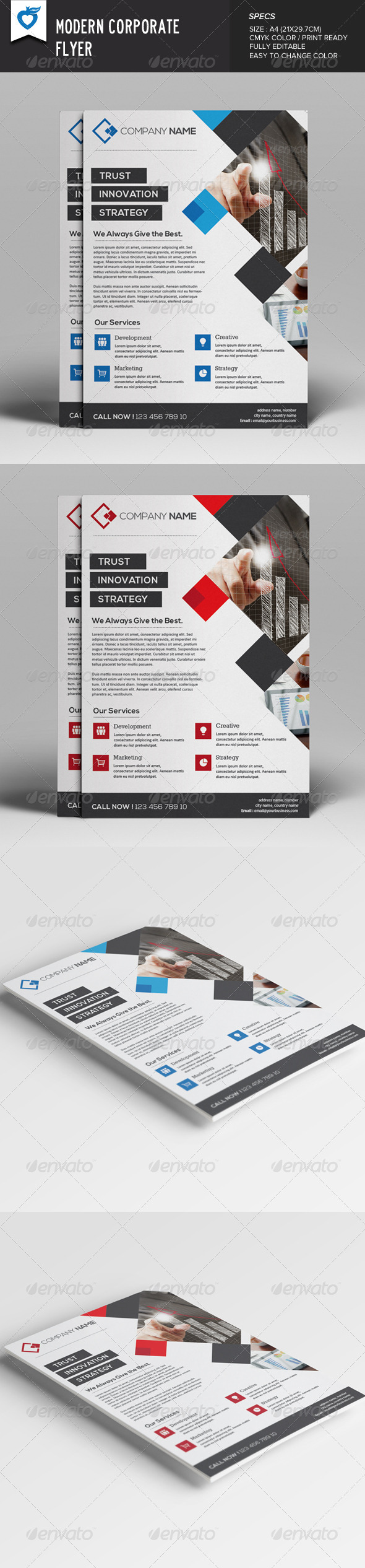 GraphicRiver Modern Corporate Flyer 7937428
