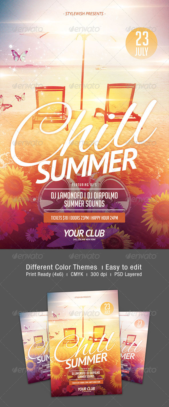 Chill Summer Flyer - Clubs & Parties Events
