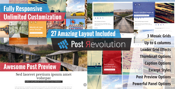 CodeCanyon Post Revolution Amazing Grid Builder for WP 7959204