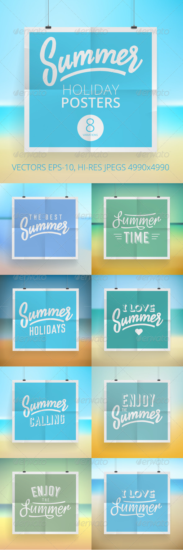 GraphicRiver Summer Holiday Posters 7947856