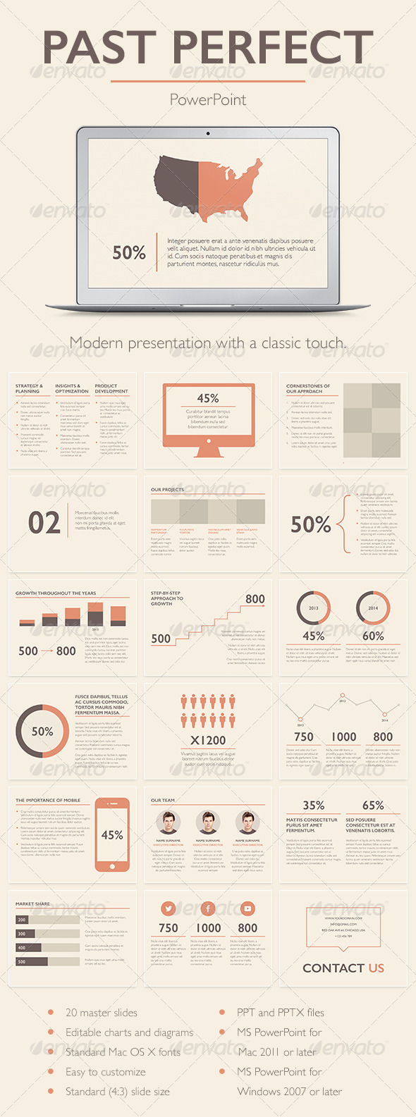 GraphicRiver Past Perfect PowerPoint Template 7896544