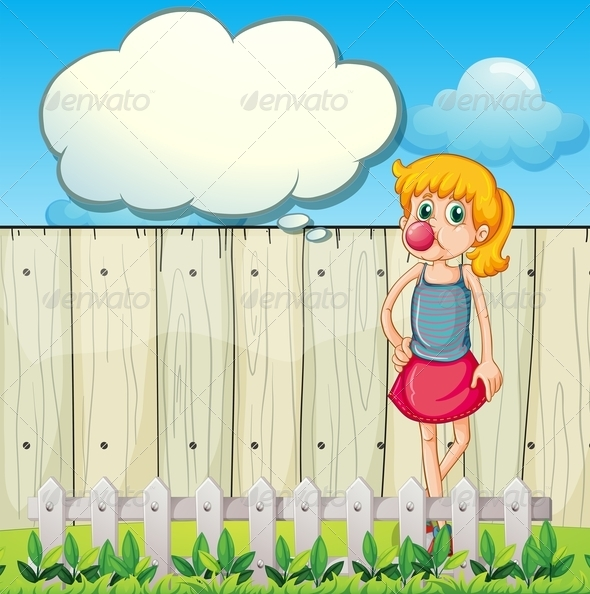 GraphicRiver Teenager in front of Fence 7959310