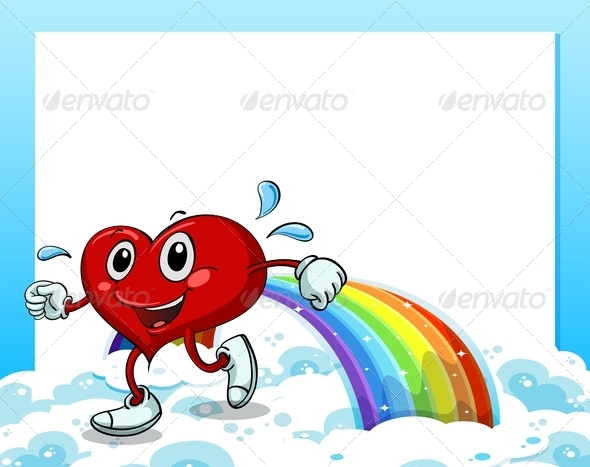 GraphicRiver Heart walking on Rainbow 7959441