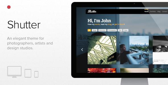 Shutter - Photography & Portfolio WordPress theme