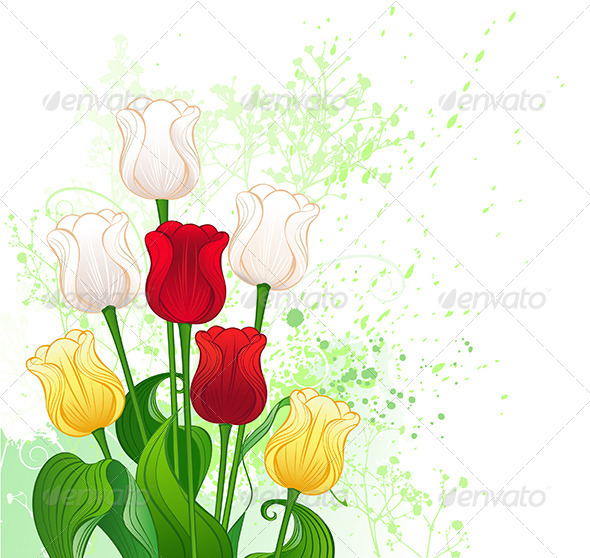 GraphicRiver Bouquet of Tulips 7959732