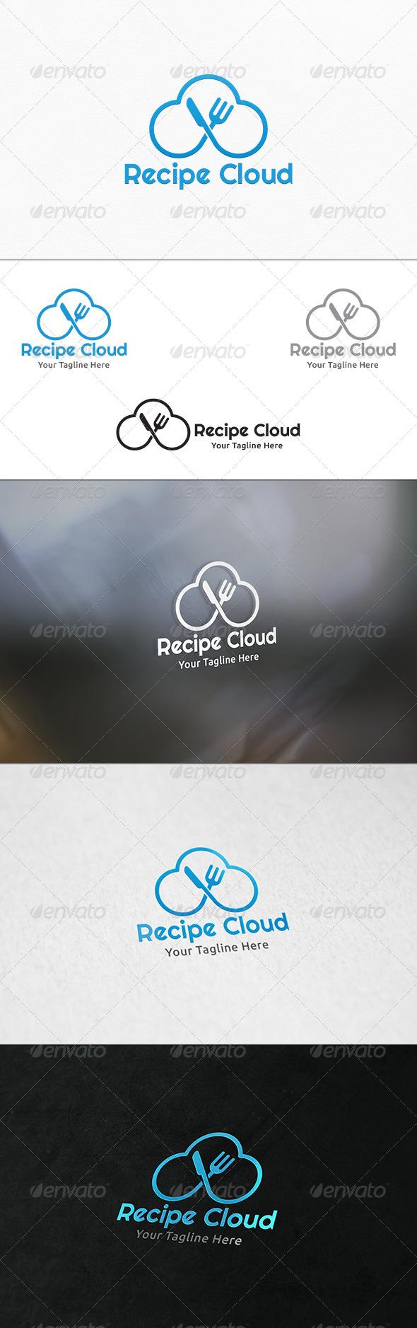 GraphicRiver Recipe Cloud Logo Template 7959786