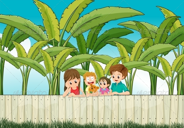 GraphicRiver Family at a Fence 7959802