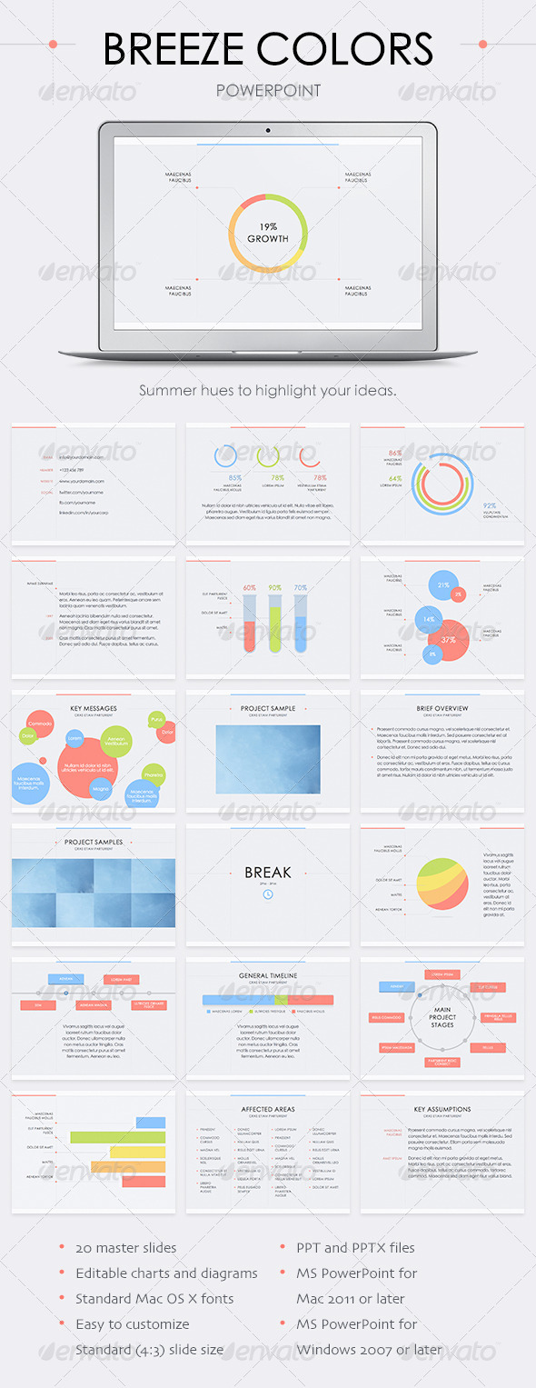 GraphicRiver Breeze Colors PowerPoint Template 7959990