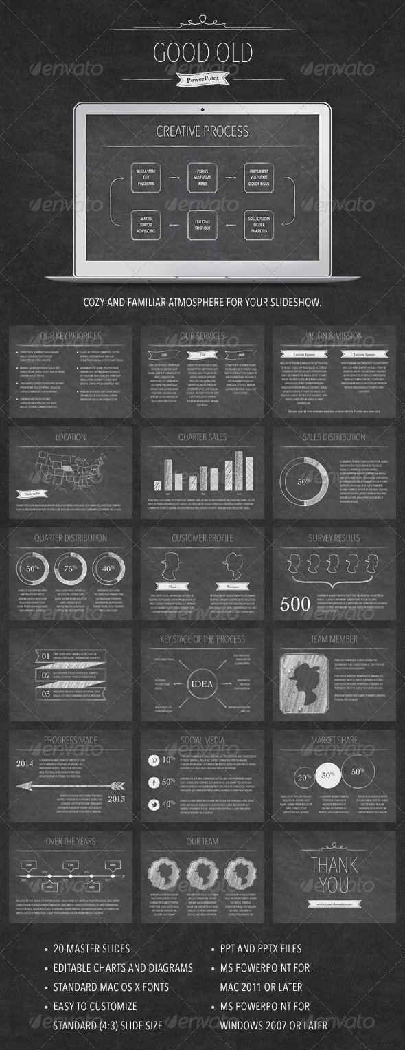 GraphicRiver Good Old PowerPoint Template 7960071