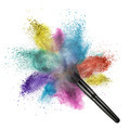 makeup brush with color powder isolated - PhotoDune Item for Sale
